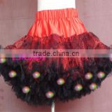 New style halloween flashing tutu for children party holiday led light up kid petticoat hot sale twinkle led pettiskirt