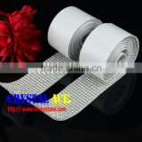 China Sticker rhinestone Mesh, Metal Setting Sticky Crystal Rhinestone Rolls Trimming in Guangzhou