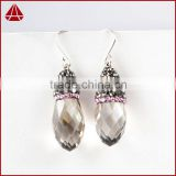 Rich design smoky quartz 925 sterling silver earring, silver jewelry, sterling silver jewelry