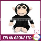 New customized black big eye orangutans soft toy