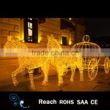 Vivid 3D christmas electric cinderella horse carriage with LED light /pumpkin carriage supplies