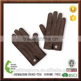 best driving hand-stitched cashmere Lined leather touch gloves
