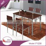 Dining room furniture 1200mm melamine MDF kitchen table wooden dining table set