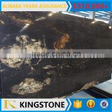 imported black granite cosmic titanium black slab