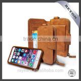 Retro PU Wallet case for iPhone leather case ,detachable Wallet case for iPhone with various card holder