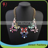 Fashion Big Crystal glass Chokers Necklaces Women Statement Necklaces & Pendants Vintage Collar Necklace