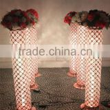 Changable LED light crystal wedding pillar walkway stand wedding column for wedding party decoration(MWS-002)                                                                         Quality Choice