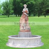 Natural Lady Statue Garden Stone Patio Fountain