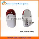 Wireless Strobe Siren with Sensors Burglar Alarm Systems Kit