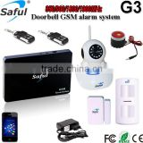 GSM auto dail home alarm G3 with PIR motion sensor /hidden surveillance camera with mms alert/ mobile phone control