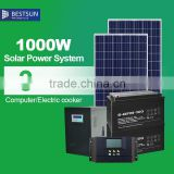 1000W Portable Solar Electric Generator High Capacity Power Backup System