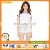 Wholesale Hot Summer Sexy Button-Fly Mini Short Jeans Denim Shorts For Ladies