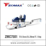 gasoline wood saws 73.5cc ZMC7501 china wholesale merchandise for fuel saving gas chainsaw