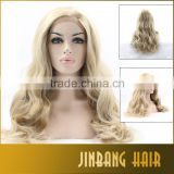 2016 High Quality Blonde Long Loose Curl Synthetic Lace Front Wigs Heat Resistant Lace front Wigs