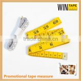 150cm tailoring soft tape measure for cut high quality promotional tape measure with Company Logo and Name