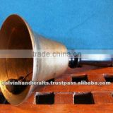 brass hand bells/ pooja bell/ hand held bell/home bell.antique Bell NBB 004
