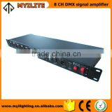 led 8 ways dmx signal amplifier distributor 8 way dmx signal splitter stage light controller