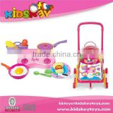 New lovely baby emulational pretend cooking tools cart toy