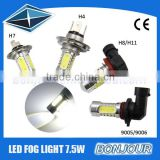 Big chips with enough power in high brightness base H1 T10 H4 led fog light turn brake light for car