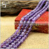 Natural Genuine Amethyst Real Gemstone Round Loose Beads Strand for Necklace Jewelry Making
