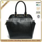CSS1422-001 top grade snake print leather bag fashion woman bags leather 2015 hot selling handbag customized design