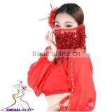SWEGAL SGBDD13002 9 colors red sexy fan belly dance mysterious charming fashion faace veils