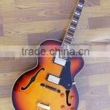 tremolo hollowbody jazz electric guitar with double F hole