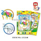 Funny animal diy paper water color drawing toys, painting set for child