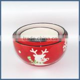 Best selling christmas product reindeer ceramic soup bowl