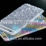 For iphone 6 6s Plus Bling 360 Degree Full Body Decal Skin Bling Glitter Phone Protective Sticker Wrap Phone Case