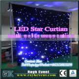 Fire-retardant ceiling LED curtain /led star curtain/LED Star Cloth /dmx led curtain with white led lights for sale