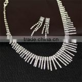 Tassel Wedding Bridal Elegance Rhinestone Studded Necklaces Set bridal jewellery full set jewellery