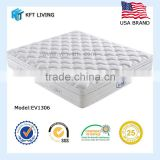 General use Hotel and bedroom home Double-deck coil on coil euro top bonnell spring bed furniture mattress