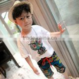 Wholesale Fashion Abstract Printing Cotton Beach Shorts for Boys