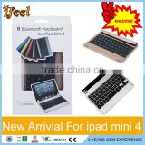 Big discount wholesale Aluminum Bluetooth keyboard for iPad mini 4 Slim Wireless Bluetooth Keyboard For iPad mini 1/2/3/4