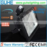Taiwan Mean Well driver 85-277VAC dc 12 volt solar led flood light 10w Black shell color 5 years warranty