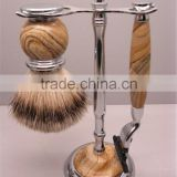 Wholesale Men's Beard Brush Classical Shaving Razor Stand Badger Shaving Brush Kits