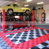 Tanfu 13mm thickness PP Interlocking Plastic Garage Floor Tiles for Car Show