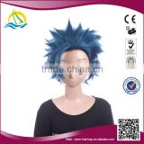 New fashion style Heat Resistant Fibre short men dark blue cosplay wig