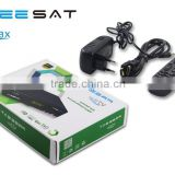 New DVB-S2 Satellite TV receiver freesat V7 max set top box support cccam newcam youporn biss key via USB wifi