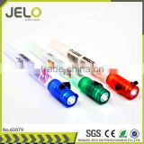 Ningbo JELO Hot sales Promotion Super Bright LED Glow Stick Plastic Torch RED GREEN BLUE YELLOW Whistle Survival Flashlight