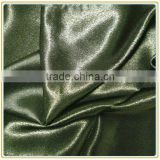 Dyed 100% Polyester Twisted Satin Fabric