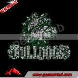 Hot fix crystal bulldogs rhinestone transfer motif iron ons for clothing wholesale price