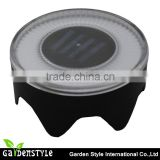 led light wholesalers solar light, round shape solar deck light, super bright power deck led light