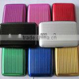 business card holder ,aluminum credit card holder for eight colours can print customer logo