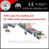 new designed customized fiber wadding machines, thermo bonding production line