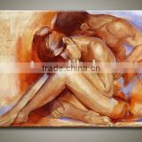 Couple Nude Male Sexy Body Picture Canvas Art Oil Paintings