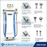 Non-surgical clinic use 5 heads cavitation cryo rf cellulite liposuction cryolipolysis fat freeze slimming with 3 handles