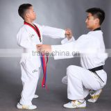 100% Cotton Taekwondo Uniforms Adult children White dobok tae kwon do Long Sleeve Uniform taekwondo tkd suits