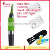 Electronic Nose Hair Trimmer Stainless Steel Nose Ear Eyebrow Sideburn and Beard Hair Clipper with LE